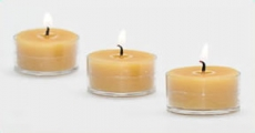 "Set of Six 1.6"" X 1"" Beeswax Tealights"